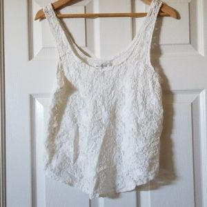 Lace white Abercrombie & Fitch lace tank XS